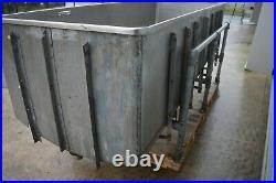 2000 litre Stainless steel vessel mixing tank dip tank sloping base £1480+Vat