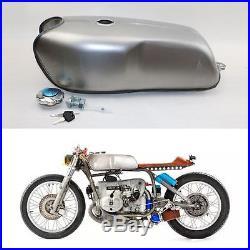 2.4 Gallon Cafe Racer Gas Fuel Tank Universal Custom Tank for Honda Yamaha BMW