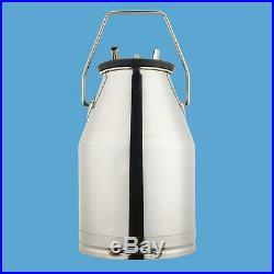 304 Stainless Steel Portable Dairy Cow Milker Milking Machine Bucket Tank