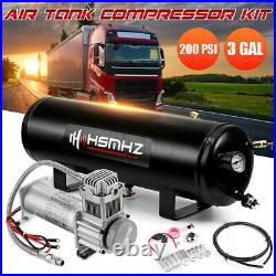 3 Gallon 200 PSI Air Tank Compressor Onboard For Train Truck Boat Horn RV
