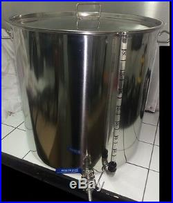 50ltr stainless steel stockpot tap sight glass HLT Mash tun Kettle tank ferment