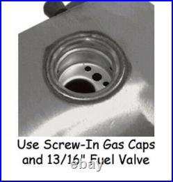 5 Gallon Vintage Gas Fuel Tank Harley Panhead Duo-Glide Shovelhead Screw In Cap