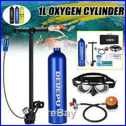 8Pc/Set Mini 1L Diving Air Tank Scuba Cylinder Underwater Breath Oxygen Tank Kit