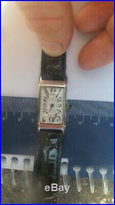 Antique Art deco era Rolex Unicorn tank exploded dial wrist watch rare unusual