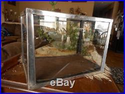Aquarium Fish Tank Vintage Stainless Steel Reptile Terrarium Small Flea Market
