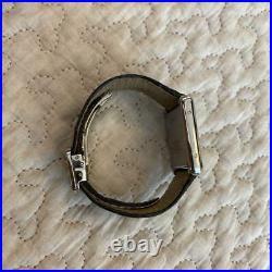 Auth Cartier Watch Tank Solo W5200005 Quartz Black Crocodile Strap F/s
