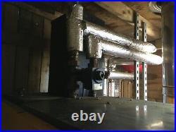 Biomass pellet boiler, Dinak stainless steel flue and buffer tank