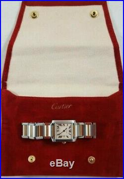 CARTIER LADIES WATCH 2465 TANK FRANCAISE 25mm STAINLESS STEEL & 18K GOLD PRE-O