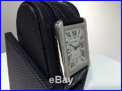 CARTIER Ref. 3515 TANK SOLO XL S/Steel Automatic w Silver Roman Dial & Datel! A+