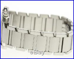 CARTIER Tank Franaise Chrono Reflex LM W51001Q3 Ivory Dial Quartz Men's(a) 5