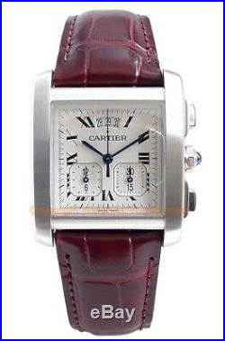 CARTIER Tank Francaise Yearling Chronoflex XXL Steel W5101455 Box/Papers/Warrant