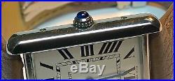 CARTIER Tank Solo Quartz Stainless Steel Unisex Watch 2715 NO RESERVE $0.99