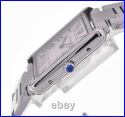 CARTIER Tank solo LM W5200014 Stainless steel Quartz Men's Watch G#102995
