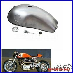 Cafe Racer Tank 10L/2.6 Gallon Gas Fuel Tank For Honda Suzuki Yamaha Universal