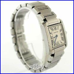 Cartier 2384 Tank Francaise White Dial Quartz Stainless Steel Ladies Wristwatch