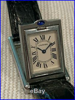 Cartier Basculante Tank Stainless Steel Ref. 2386 Cartier Band/Buckle NO RESERVE