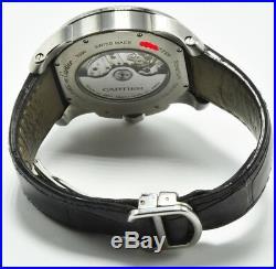Cartier Calibre de Mans Watch Auto Leather W7100037 White Dial 42mm Box Paper