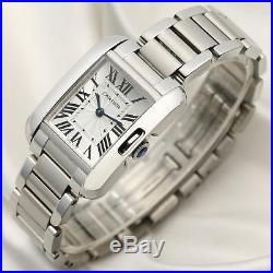 Cartier Lady Tank Anglaise Stainless Steel 3485