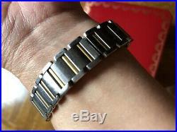Cartier Stainless Steel/gold Tank Francaise Women Watch Box+original Certificate