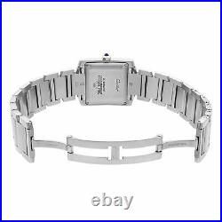 Cartier Tank 2302 Francaise Steel Silver Dial Automatic Mens Watch W51002Q3