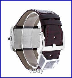 Cartier Tank Divan Automatic Men's Leather Strap Watch W6300755 2612