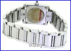 Cartier Tank Francaise 2384 elegant high fashion SS quartz ladies watch