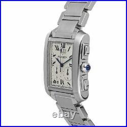 Cartier Tank Francaise Chronoflex Quartz Steel Ladies Bracelet Watch W51024Q3
