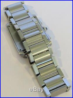 Cartier Tank Francaise Chronoflex S/Steel Unisex Watch W51001Q3, Box and Papers