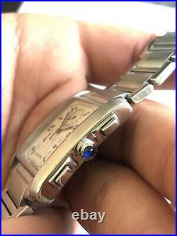 Cartier Tank Francaise Chronoflex Unisex Watch Ref 2303