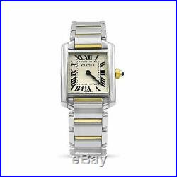 Cartier Tank Française Ladies Pre-Owned Swiss 2384 Steel & Gold Wrist Watch