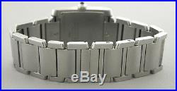 Cartier Tank Francaise MID Size Stainless Steel Date Watch
