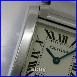 Cartier Tank Francaise SM W51008Q3 Quartz Silver Dial Ladies Watch 90116462
