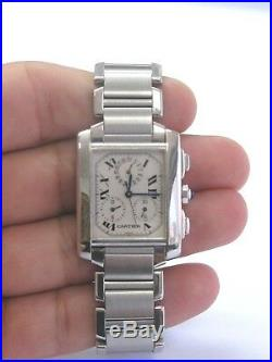 Cartier Tank Francaise Stainless Steel Large Size Automatic Chronograph 2303
