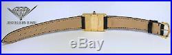 Cartier Tank Louis 18k Yellow Gold Mens Quartz Watch on Strap Box/Papers 2441