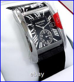 Cartier Tank MC W5330004 Automatic Black Dial BOX & PAPERS BRAND NEW MSRP-7K