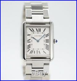 Cartier Tank Solo 3169 27x35mm Silver Stainless Steel Swiss Quartz Wrist Watch