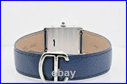 Cartier Tank Solo 3169 Stainless Steel Case White Roman Numeral Dial 27 MM