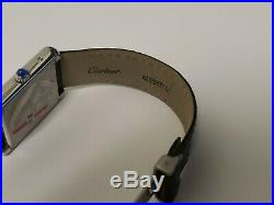 Cartier Tank Solo 3170 Stainless Steel Quartz Unisex Watch Mint