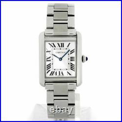 Cartier Tank Solo Ladies 24 mm Quartz Bracelet Watch, Ref, W5200013 Box & Papers