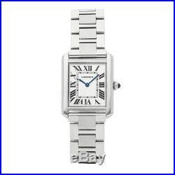 Cartier Tank Solo Quartz Steel Ladies Bracelet Watch W5200013