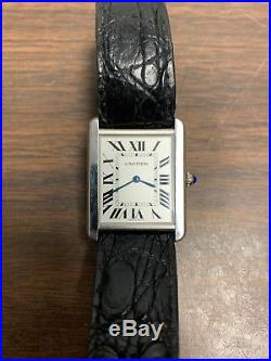 Cartier Tank Solo Quartz Watch Stainless Steel 27mm Ref 2715