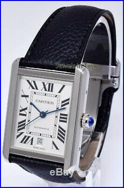 Cartier Tank Solo XL Steel Automatic Watch 3800 Box/Papers WSTA0029