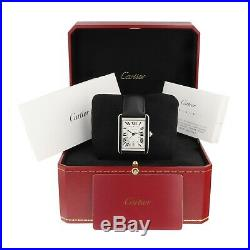 Cartier Tank Solo XL Steel Automatic Watch WSTA0029 NEW Complete