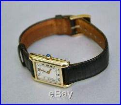 Cartier Tank Watch, Mechanical Manual Winding, Lady, Ref. 2627-9, Very Fine
