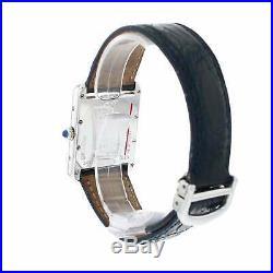 Cartier Tank White Dial Quartz Mens Watch 25mm