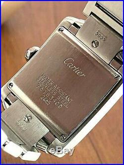 Cartier Women's Watch Tank Francaise Ref. 2465 Stainless Steel 25mm Swiss Quartz
