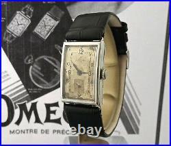 Early Vintage Omega 20F Art Deco 22x33mm Tank Steel Men's Watch