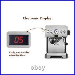 Espresso Cappuccino Coffee Machine Milk Steamer 15 BAR Pump Pressure 1.7L Tank