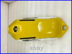 Fuel Gas Tank YAMAHA 250 DT / 400 DT Enduro, Yellow Painted Steel 1975 to 1977