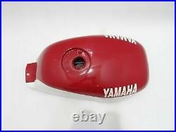 Fuel Petrol Gas Tank White & Red Painted Steel Yamaha YSR50 YSR80 1989